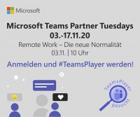 Remote Work - Die neue Normalität, Microsoft Teams Partner Tuesdays