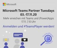 Mehr erreichen mit Teams und (Power)Apps – Microsoft Teams Partner Tuesdays