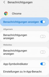 Benachrichtungen deaktivieren am Smartphone, Tablet, Google Chrome